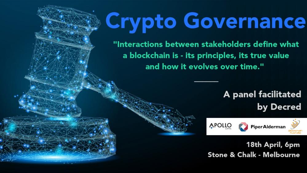 Crypto Governance - It is a matter of survival