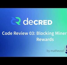 Decred Code Review 03 - Miner Reward Invalidation
