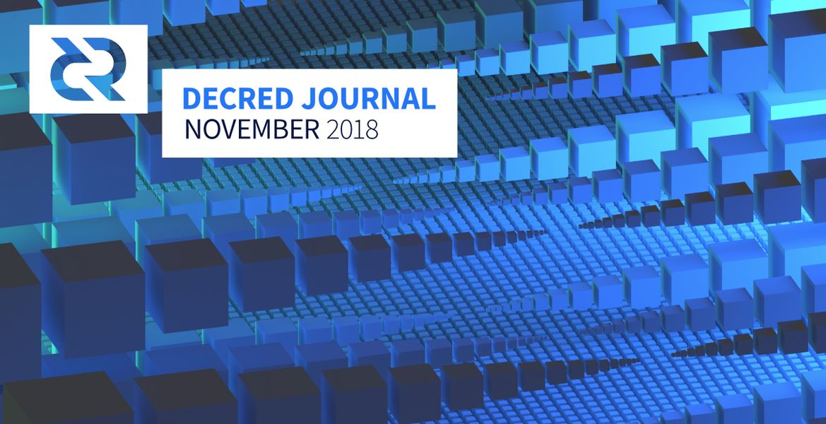 This post covers what happened in Decred in the month of November. It is the 8th issue of the Decred Journal.